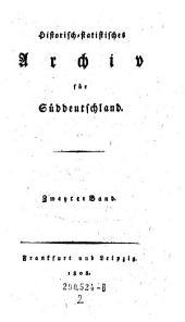 Historisch-statistisches Archiv für Süddeutschland: Band 4