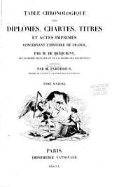 Table chronologique des diplomes: Année 1240-1270