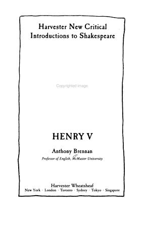 Henry V PDF