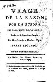 Viage de la razon por la Europa