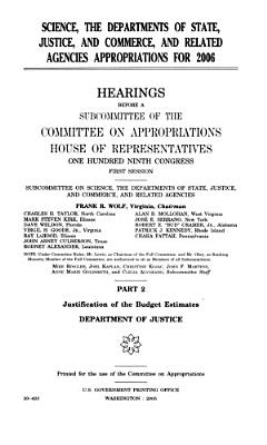 Science  the Departments of State  Justice  and Commerce  and Related Agencies Appropriations for 2006 PDF