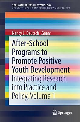 After School Programs to Promote Positive Youth Development PDF