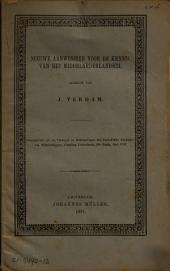 Nieuwe aanwinsten voor de kennis van het Middelnederlandsch: Volume 1
