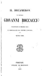 Il Decameron di Messor Giovanni Boccacci: Volumi 1-2