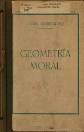 Geometría moral: con una carta-prólogo de don Juan Valera