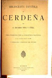 Bibliografia espanola de Cerdena