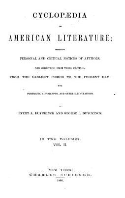 Cyclop  dia of American Literature PDF