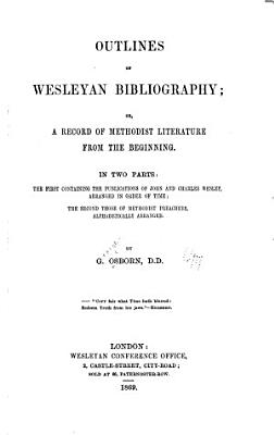 Outlines of Wesleyan Bibliography