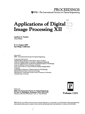 Applications Of Digital Image Processing Xii
