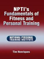 NPTI   s Fundamentals of Fitness and Personal Training PDF