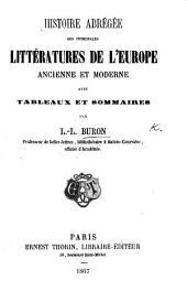 Histoire abrégée des principales littératures de l'Europe, etc
