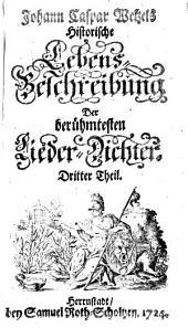Hymnopoeographia, oder Historische Lebens-Beschreibung der berühmtesten Lieder-Dichter: 3