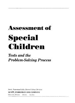 Assessment of Special Children PDF