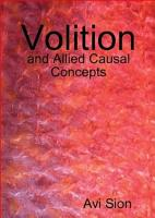 Volition and Allied Causal Concepts PDF