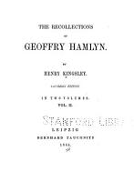 The Recollections of Geoffry Hamlyn PDF