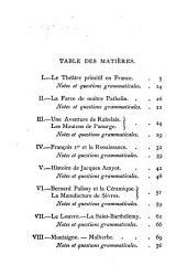 La langue française, seconde partie: variétés historiques et littéraires