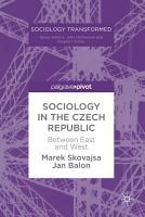 Sociology in the Czech Republic PDF