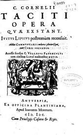 C. Cornelii Taciti Opera quae exstant