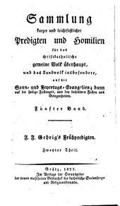Frühpredigten vor dem Landvolke (etc.) 2. verm. u. verb. Aufl: 4-6
