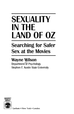 Sexuality in the Land of Oz PDF