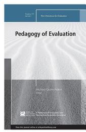 Pedagogy of Evaluation: New Directions for Evaluation, Number 155