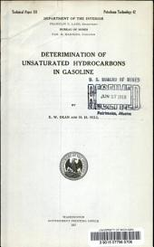 Deterimination [i.e. determination] of unsaturated hydrocarbons in gasoline