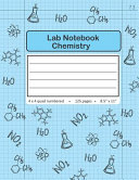 Lab Notebook Chemistry 4 X 4 Quad Numbered Pages