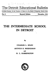 The Detroit Educational Bulletin: Research bulletin, Issues 6-8