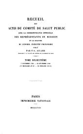 Recueil des actes du Comité de salut public avec la correspondance officielle des représentants en mission et le registre du Conseil exécutif provisoire