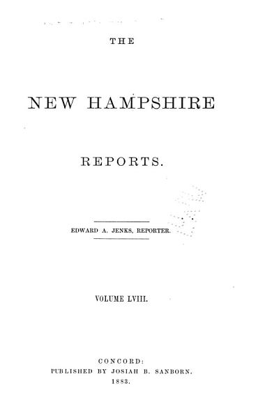 Download The New Hampshire Reports Book