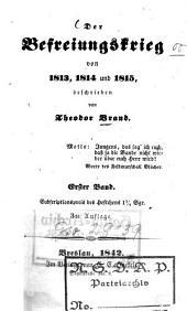 Der Befreiungskrieg von 1813, 1814 und 1815: Band 1
