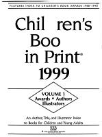 Children s Books in Print 1999 PDF