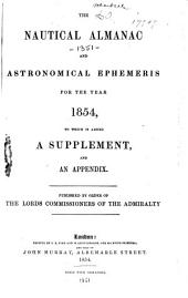 Nautical Almanac and Astronomical Ephemeris: Volume 1854
