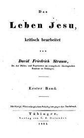 Das leben Jesu: Kritisch bearbeitet