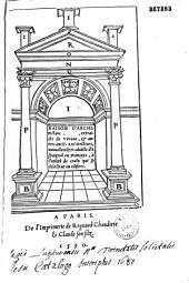 Raison d'architecture antique, extraicte de Vitruue, & autres ancie[n]s architecteurs, nouuelleme[n]t traduicte d'Espaignol en Françoys, à l'utilité de ceulx qui se delectent en edifices