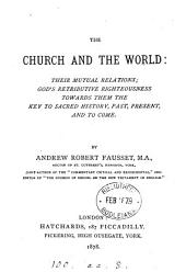 The Church and the world. [6 lects.].