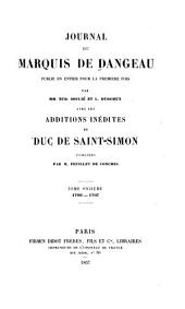 Journal du marquis de Dangeau: 1706-1707