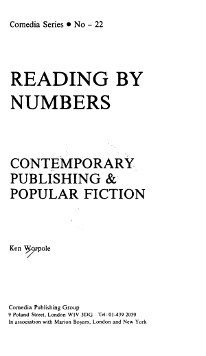 Reading by Numbers