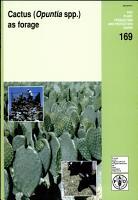 Cactus  Opuntia Spp   as Forage PDF