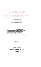 A Paradise of English Poetry