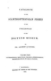 Catalogue of the Fishes in the British Museum: Volume 1