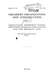 Creamery Organizations and Construction: Volumes 136-144