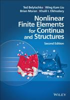 Nonlinear Finite Elements for Continua and Structures PDF