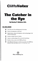 CliffsNotes on Salinger s The Catcher in the Rye PDF