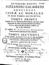 Conciones sacrae ac morales: Volume 1