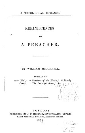Reminiscences of a Preacher