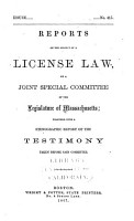 Reports on the Subject of a License Law PDF