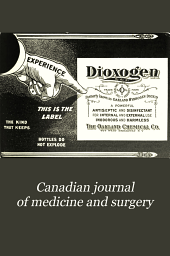 Canadian Journal of Medicine and Surgery: Volume 13