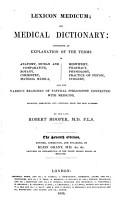 Lexicon Medicum  Or  Medical Dictionary PDF