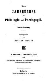 Neue Jahrbücher für Philologie und Paedagogik: Band 76